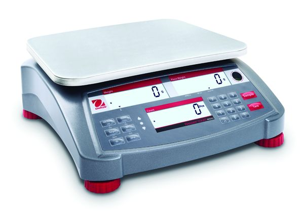 "Ohaus 4.8"" x 12.9"" x 12.4"" Ranger Count, EC Type Approved. 4000 Balances Scales RC41M3-M 6 lb"