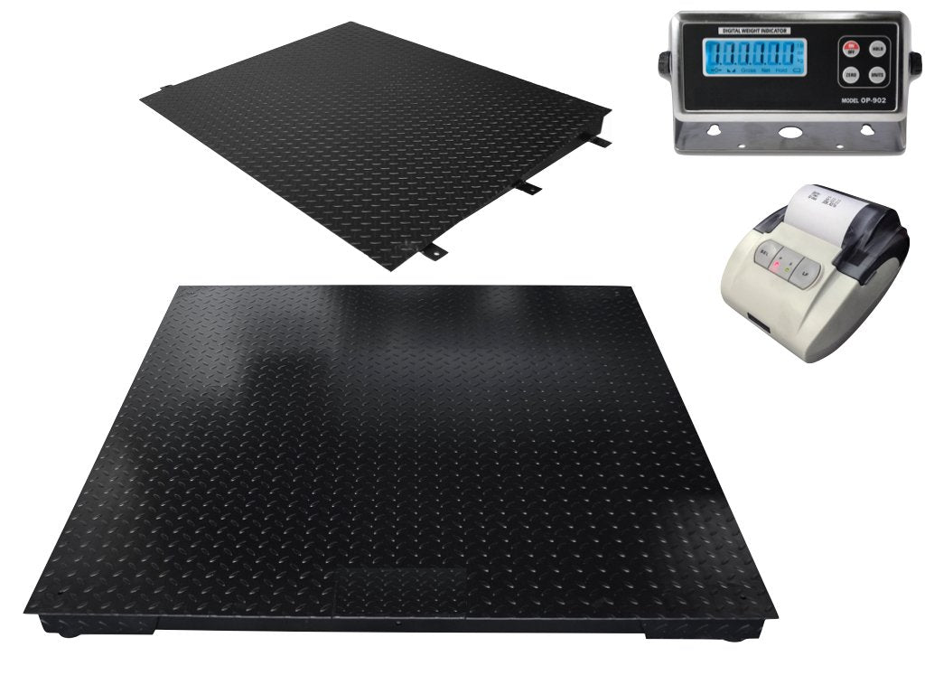 "48"" x 48"" (4' x 4')  Floor Scale / pallet size with Ramp & Printer 10,000 x 1 lb"