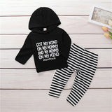 B&W Tracksuit 2PCS - babyland.cloth