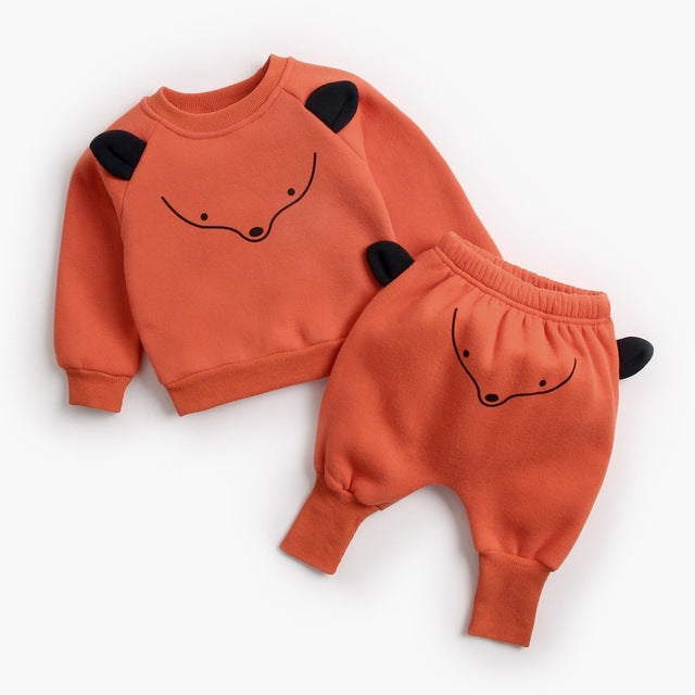 3D Animal Tracksuit 2Pcs - babyland.cloth