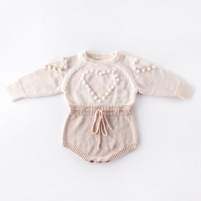 Heart Handmade Jumpsuit - babyland.cloth