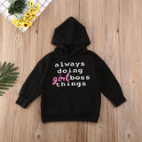 Always doing girl boss things Dress Hooded - babyland.cloth