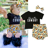 Dibs on the cowbow Outfit 3PCS - babyland.cloth