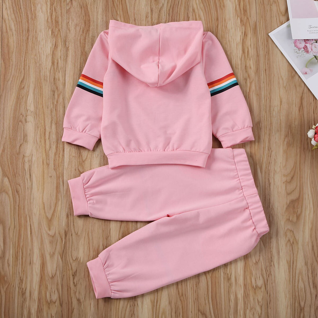 Rainbow Tracksuit 2PCS - babyland.cloth