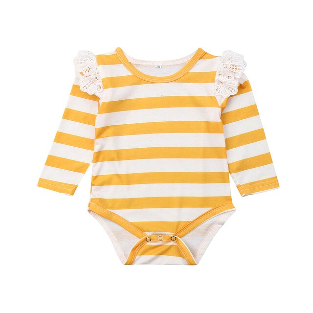 Striped Bodysuit - babyland.cloth