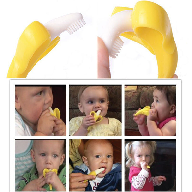 High Quality Silicone Toothbrush And Environmentally Safe Baby Teether Teething Ring Kids Teether Children Chewing - babyland.cloth