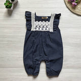 Denim Romper - babyland.cloth