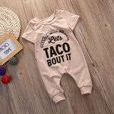"""Lets's TACO BOUT IT"" Romper - babyland.cloth"