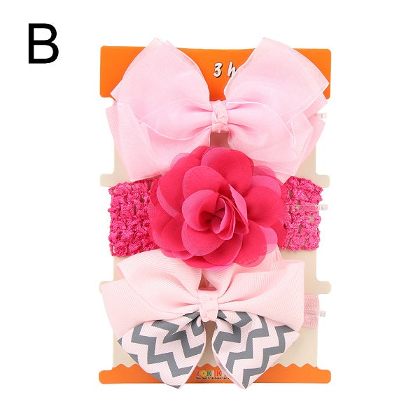 Gootrades 3PCS/Set New Kids elastic hair band Girls Mix Styles Dots Knotted Headwear Flower Bowknot turban Hair Accessories 2018 - babyland.cloth