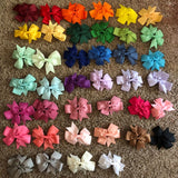 40 pcs/sets Kids Colorful Bow Tie Hairpin - babyland.cloth
