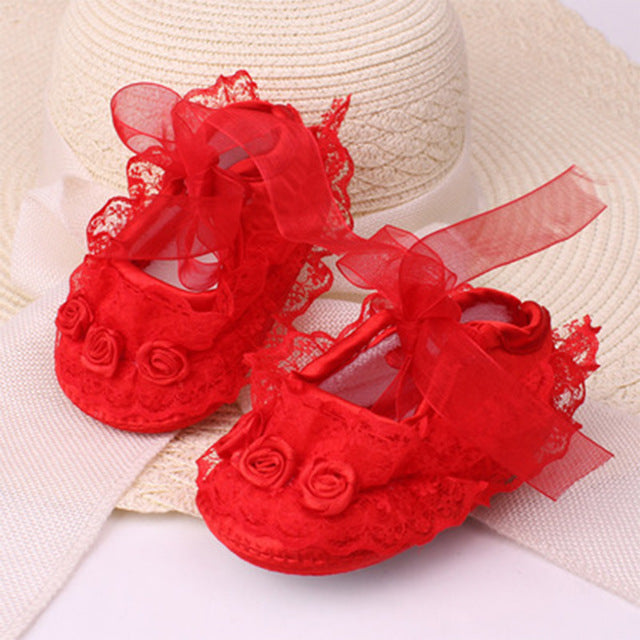 Flower Crib Shoes - babyland.cloth