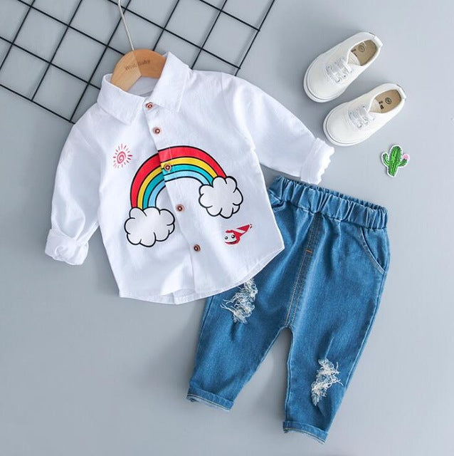 """RAINBOW"" Shirt + Jeans - babyland.cloth"