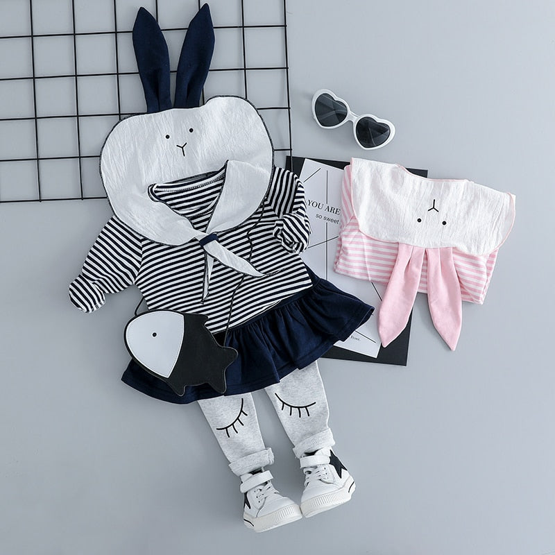 Rabbit Clothing Sets 3PCS - babyland.cloth