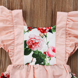 Floral Jumpsuit + Headband - babyland.cloth