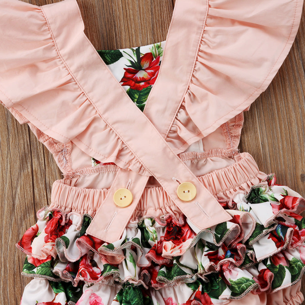 Floral Jumpsuit + Headband