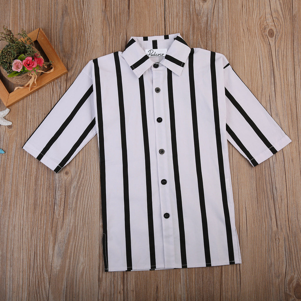 """B&W"" Blouse - babyland.cloth"