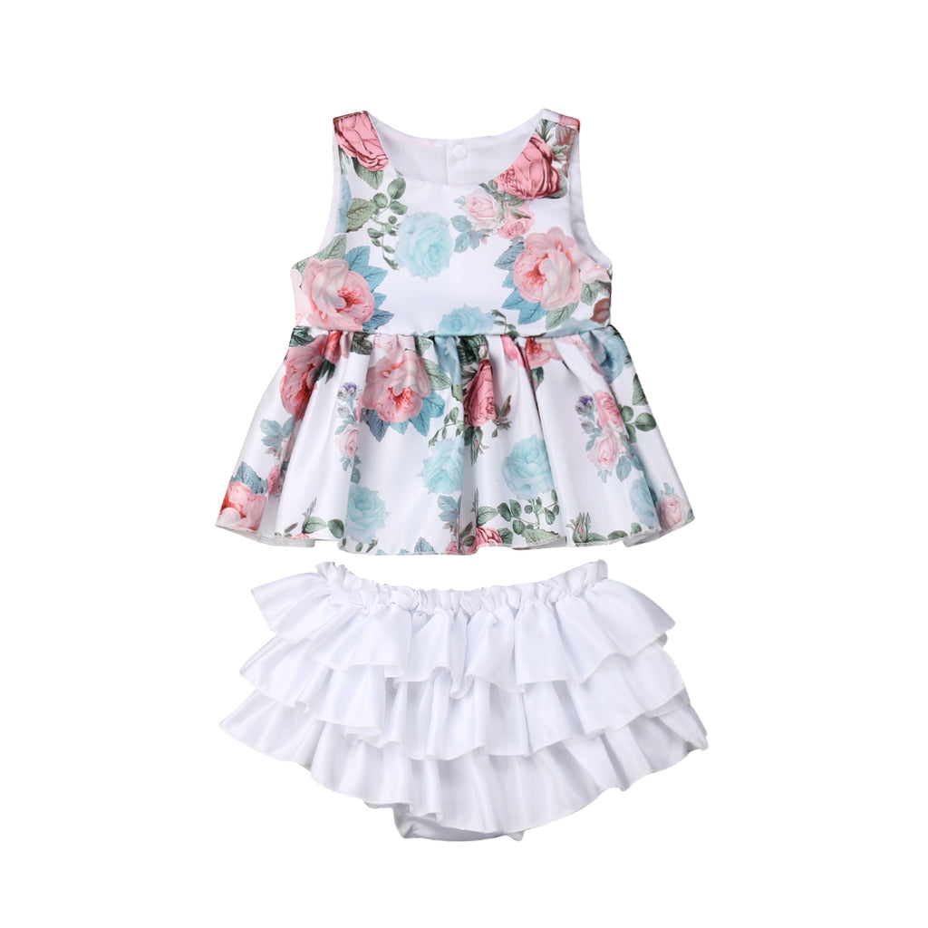 Floral Outfit 2PCS - babyland.cloth