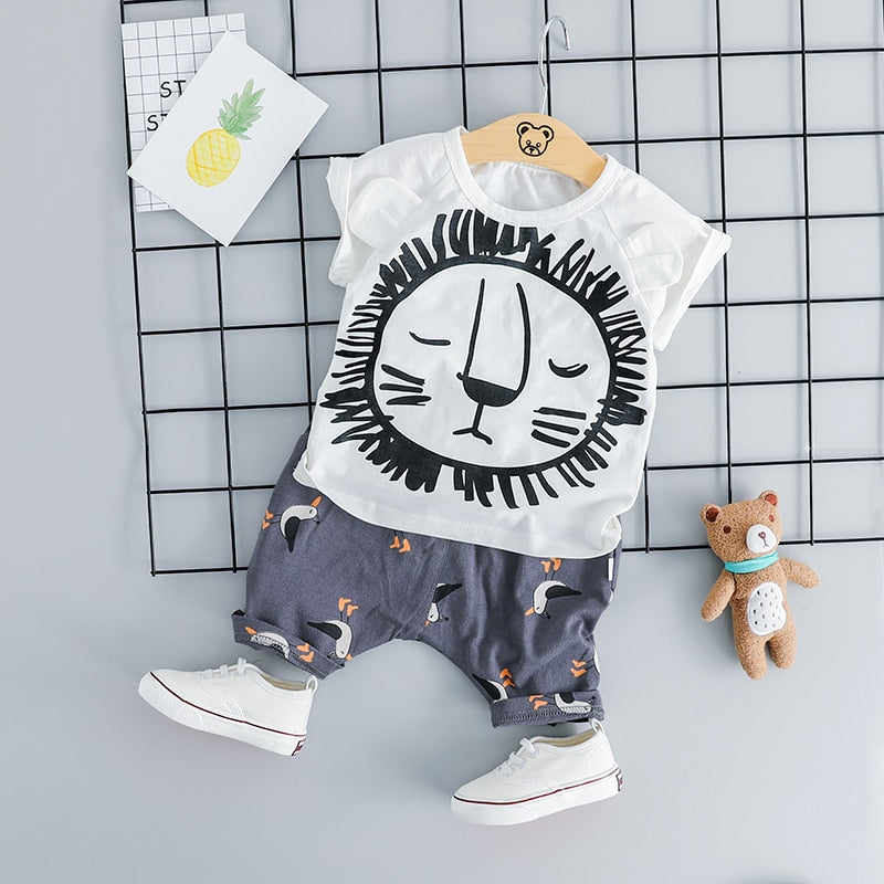 Lion Clothing Sets 2PCS - babyland.cloth