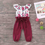 Floral Playsuit - babyland.cloth