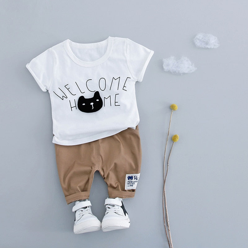 """Welcome Home"" Outfiits 2PCS - babyland.cloth"