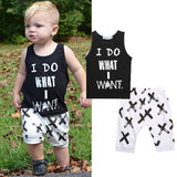 """I do what i want"" outfit 2PCS - babyland.cloth"