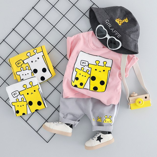 Giraffe Clothing Sets 2PCS - babyland.cloth