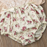 Floral Bodysuit + Headband - babyland.cloth