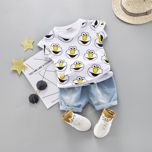 Cartoon Outfit 2PCS - babyland.cloth