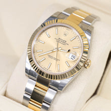 Load image into Gallery viewer, Rolex 126333 Datejust 41mm Mens Oyster Two-Tone 18K Gold Fluted Bezel & Champagne Dial