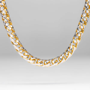 14KT Diamond Cut Solid Gold Franco Chain