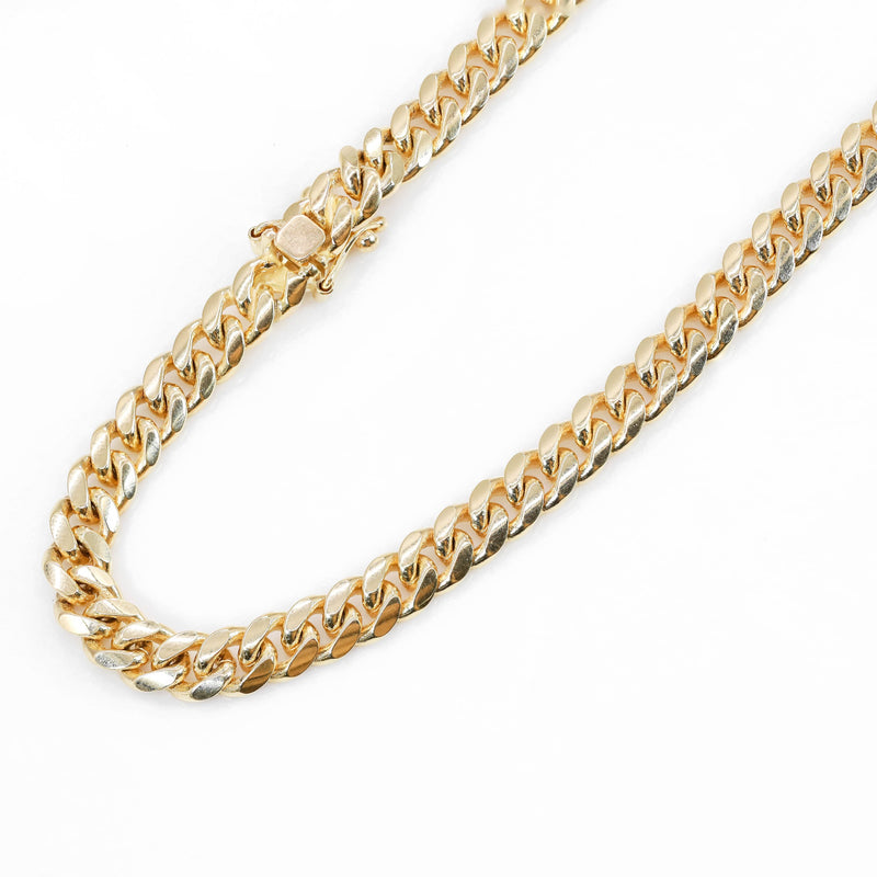 14KT Solid Gold Miami Cuban Chain