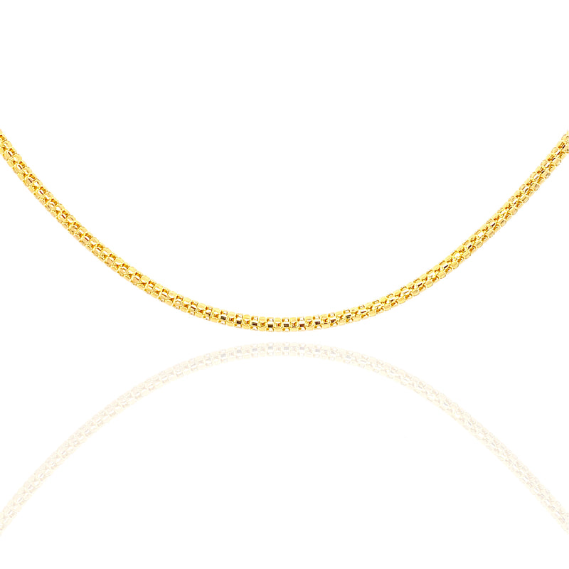 10KT Gold Solid Popcorn Chain