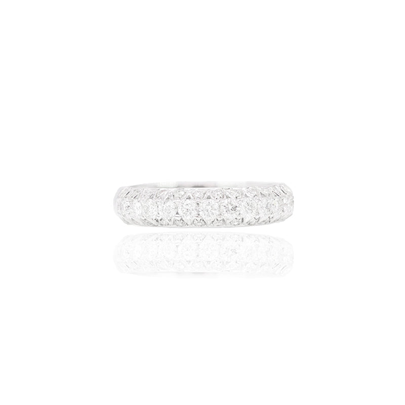 Square Diamond Engagement Ring & Band