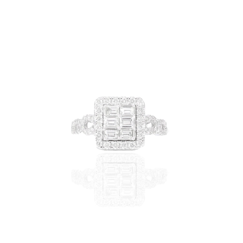 Baguette Diamond Engagement Ring & Band