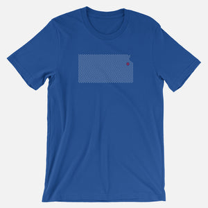 Lawrence, Kansas Basketball Map Stats T-Shirt