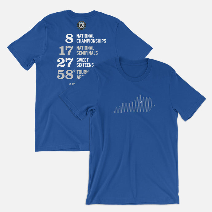 Lexington, Kentucky Basketball Map Stats T-Shirt