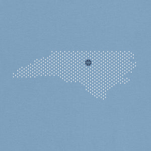Chapel Hill, North Carolina Basketball Map Stats T-Shirt