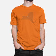 Load image into Gallery viewer, Syracuse, New York Basketball Map Stats T-Shirt