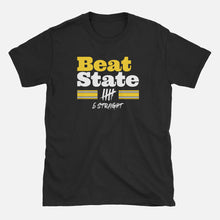 Load image into Gallery viewer, Beat State 5 Straight T-Shirt (Iowa)