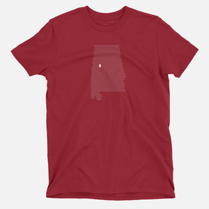 Tuscaloosa, Alabama Football Map Stats T-Shirt
