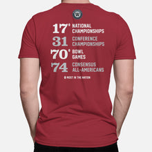 Load image into Gallery viewer, Tuscaloosa, Alabama Football Map Stats T-Shirt