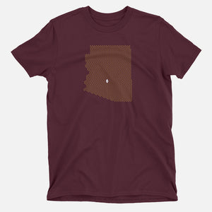 Tempe, Arizona Football Map T-Shirt