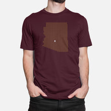 Load image into Gallery viewer, Tempe, Arizona Football Map Stats T-Shirt