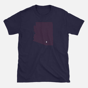 Tucson, Arizona Football Map T-Shirt, Navy
