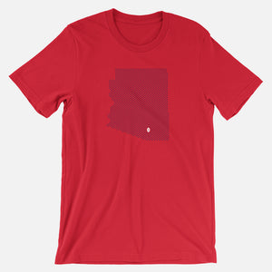 Tucson, Arizona Football Map T-Shirt, Red