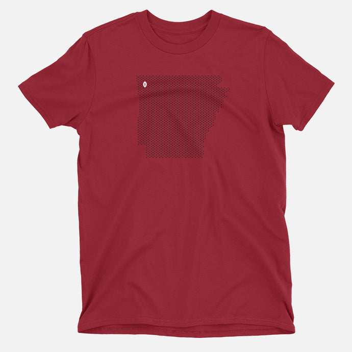 Fayetteville, Arkansas Football Map T-Shirt