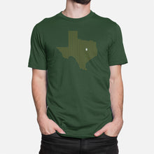 Load image into Gallery viewer, Waco, Texas Football Map Stats T-Shirt, Green