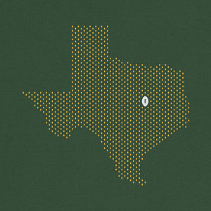 Waco, Texas Football Map Stats T-Shirt, Green