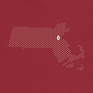 Chestnut Hill, Massachusetts Football Map T-Shirt