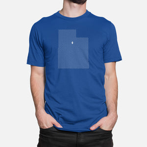 Provo, Utah Football Map Stats T-Shirt, Royal Blue